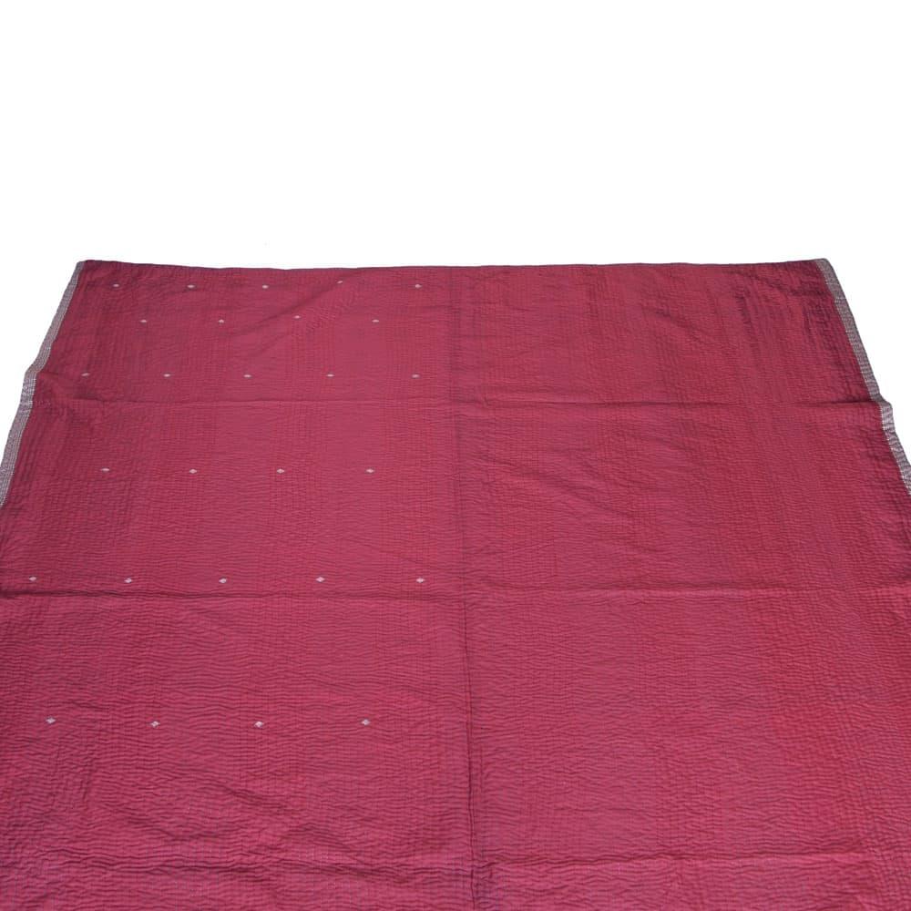 Silk Sari Kantha Blanket Big Dhusara Tulsi Crafts