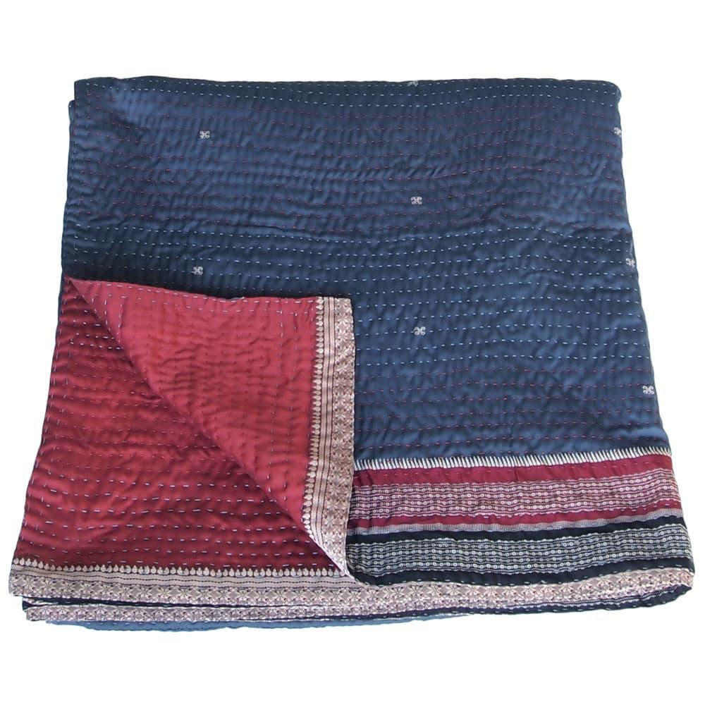 silk bedspread kantha dhusara