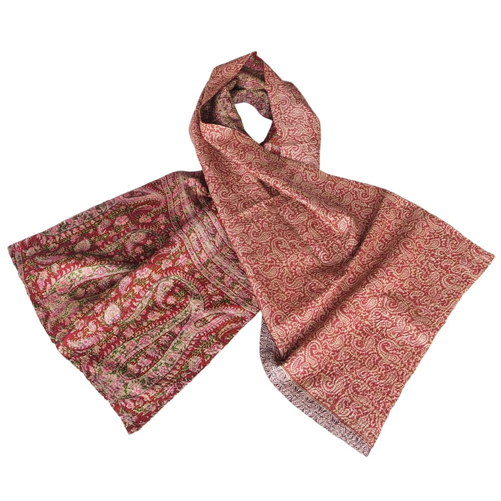 sustainable scarf silk kantha pya