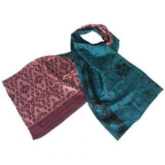 kantha shawl silk sari tai