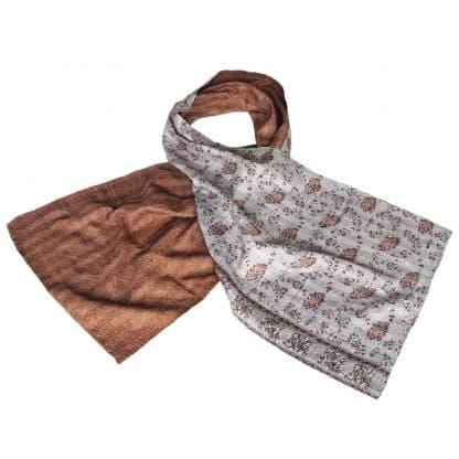 zijden sjaal sari kantha gaura