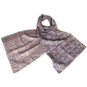 kantha scarf silk sari lilapa fair fashion