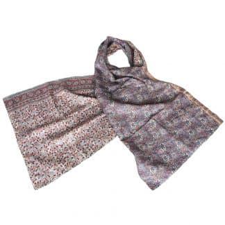 kantha sjaal zijde sari lilapa eerlijke mode