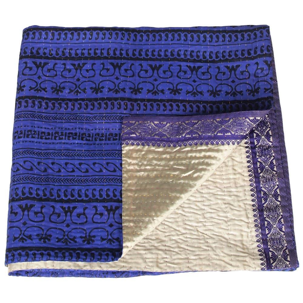 deken zijde raja blauw