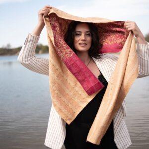 ethical scarf silk robi