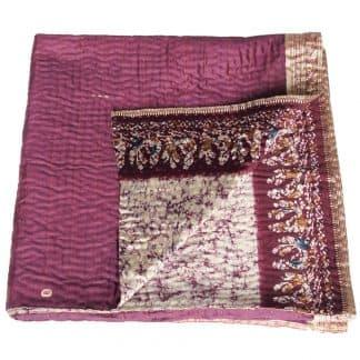 kantha sari quilt kimsim blanket