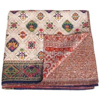 kantha bedspread india tali