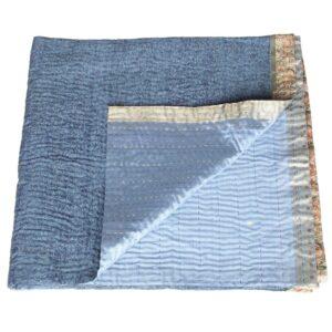 silk sari quilt dipti coverlet