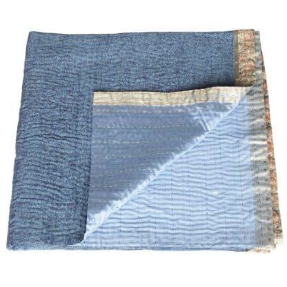 zijden sari plaid dipti