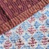 zijden sari plaid swapna handgemaakt