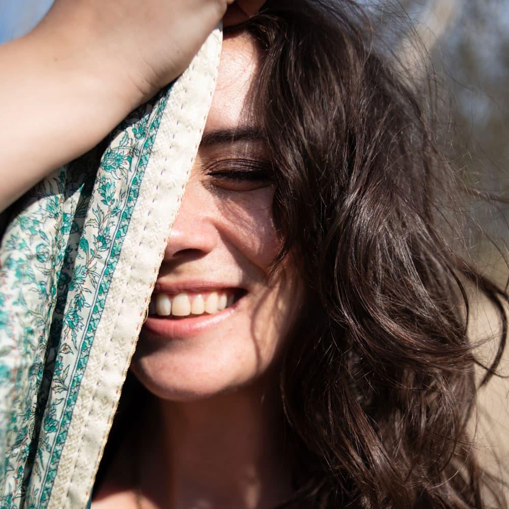 zijden sari sjaal nadi fair trade
