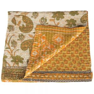 plaid kantha sari rina fairtrade