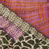 plaid sari gerecycled kantha pinki