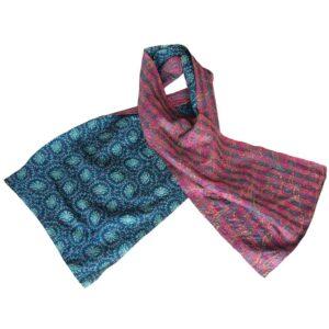 handgemaakte zijden sjaal sari sindhu
