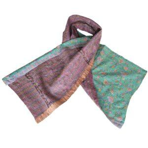 silk scarf kantha pensila