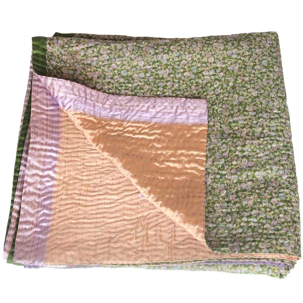 kantha zijden sari deken macha sprei
